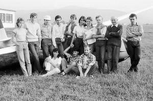 Obozy szybowcowe na lotnisku ABB w latach osiemdziesiątych